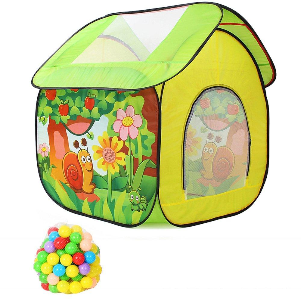 Siyushop Tiendas de Bebés y Niños para Niños Pequeños, Sobredimensionados 4 'Madera Sólida y Lona, Adecuado para Grupos de Actividades Interiores y Exteriores, Fácil de Limpiar (Color : Cloth 100)
