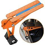 TOOENJOY Suporte universal para porta de carro com bolsa portátil, porta de teto dobrável com trava de porta, suporta ambos o
