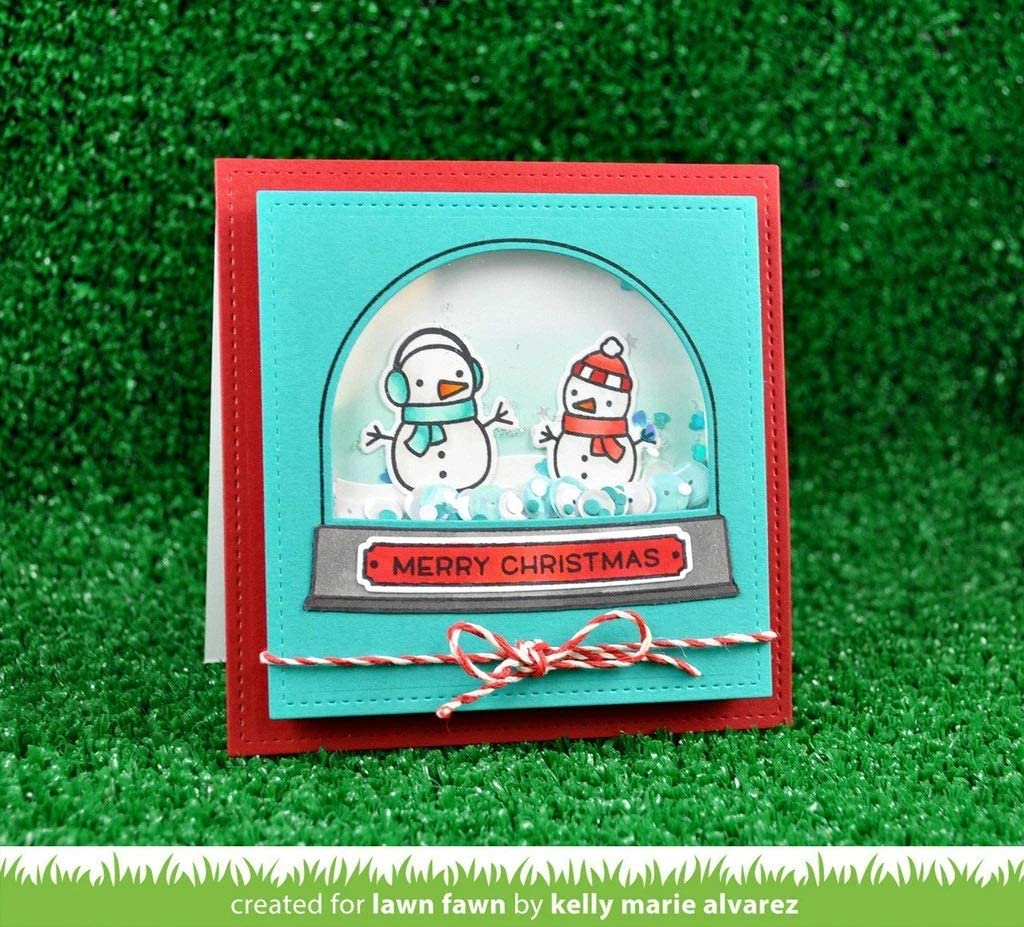 Set Lawn Fawn Ready Snow 4x6 Clear Stamps LF973