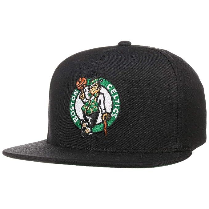 819bfa2c7 Mitchell & Ness Boston Celtics HWC INTL405 Wool Solid Snapback Cap ...