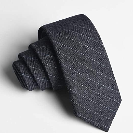 HBJP Corbata/Traje de Hombre de Negocios / 5.5 cm/Gris/Azul/Raya ...