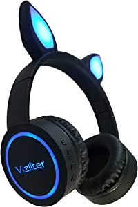 Win A Free Cat Ear Bluetooth Headphones with LED Lights Foldable Headset…