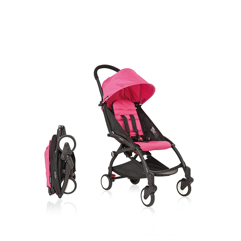 babyzen yoyo colors : Babyzen Yoyo Stroller Black Frame Pink Color Pack