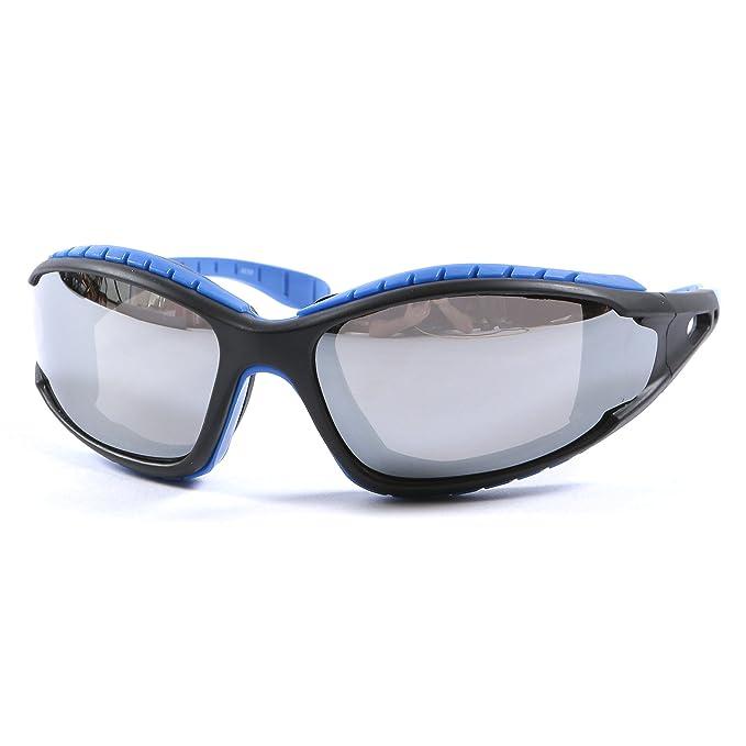 Motorcycle Biker Sunglasses Shatterproof  UV400 Blue Mirror Lens /& free Pouch