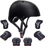Kids Bike Helmet Toddler Helmet Boys Girls Kids Knee Elbow Pads Wrist Guards Pads 3-14 Years Kids Protective Gear Set…