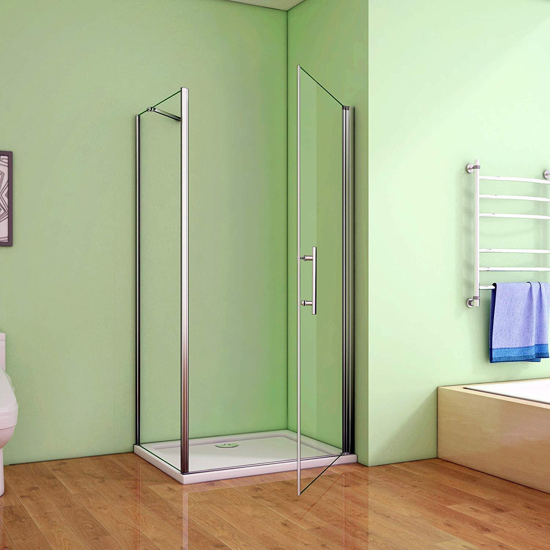 100 x 80 x 195 cm de ducha mampara de ducha de puerta de cristal ...