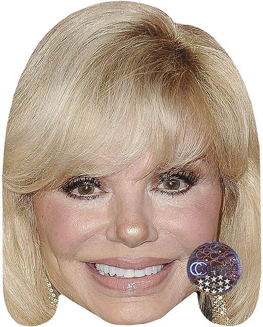 Card Face and Fancy Dress Mask Pamela Anderson Celebrity Mask Smile