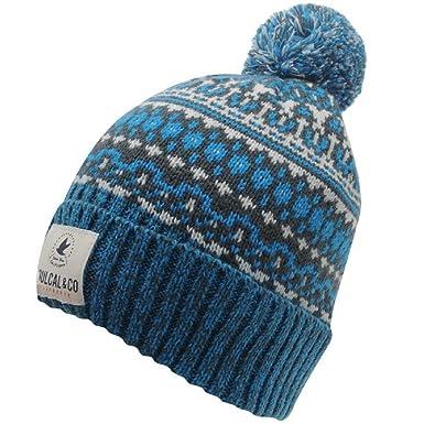 602abb96 Mens Bobble Hat SoulCal Fair IsleIcicle Warm Winter (char / blue ...