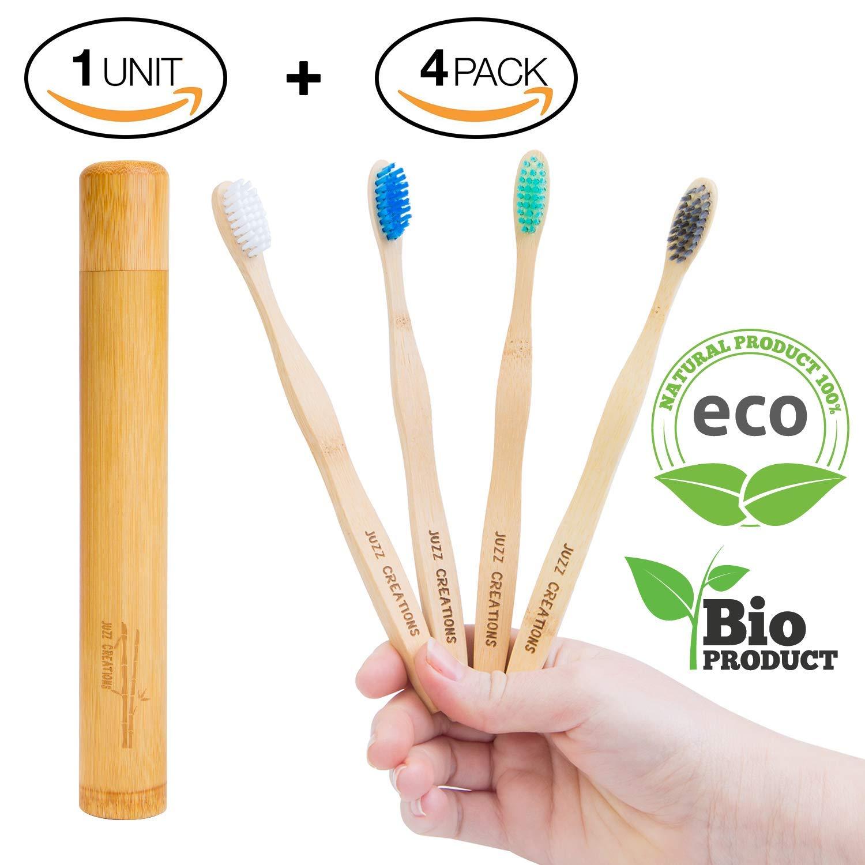 Cepillos de dientes de Bambú, Ecológicos , 100% Orgánicos, Biodegradables, Naturales y