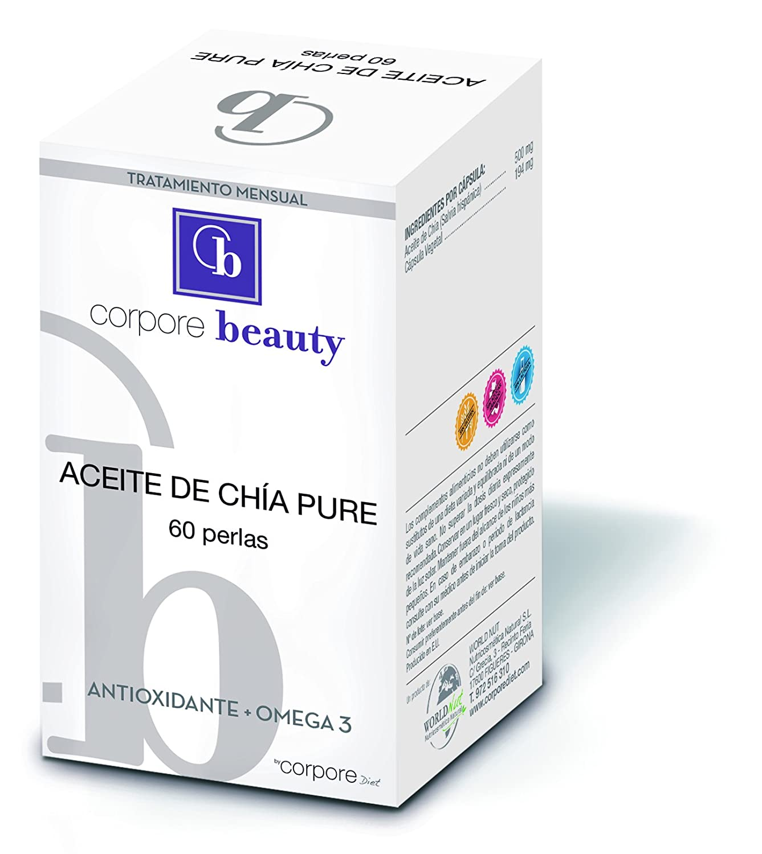 Corpore Beauty Perlas de Aceite de Chía - 60 Cápsulas: Amazon.es ...