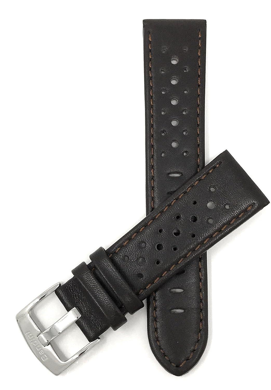 (バンディニ) Bandini 通気孔付き本革製腕時計バンド レーサー ステンレス製バックル付き 18~24mm 選べるカラー 24MM ブラウン B01BB37W6O 24MM|ブラウン ブラウン 24MM