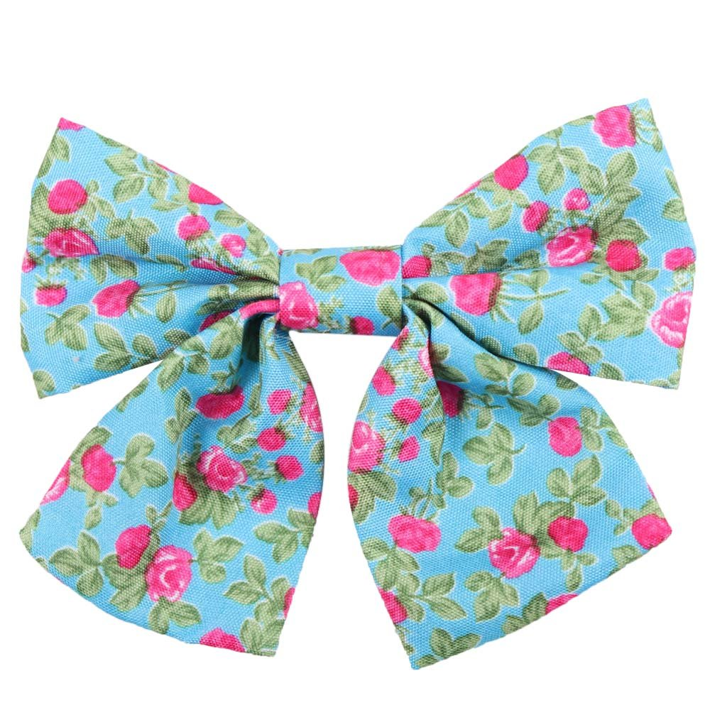 Oaoleer 10pcs 3.5'' Fabric Ribbon Hair Bows with Clips for Baby Toddler Girls Teens by Oaoleer (Image #9)