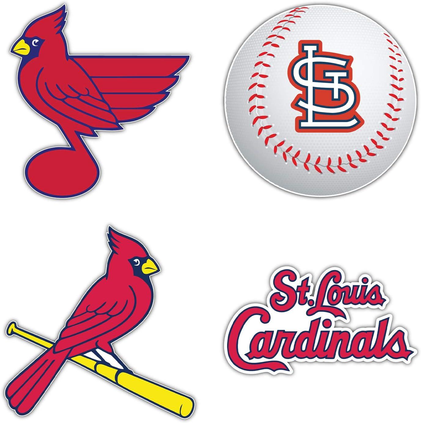 St. Louis City Cardinal Baseball Die-Cut Sticker - Set of 4 Decal 5