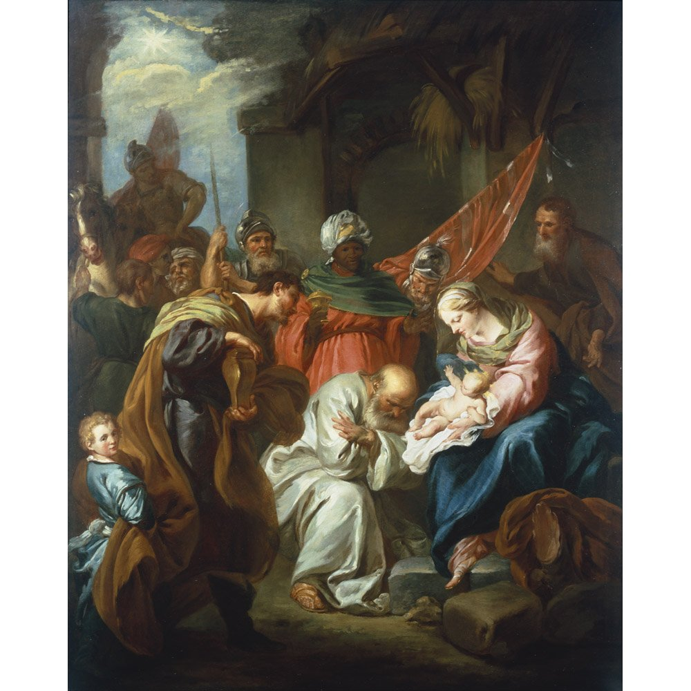Adoration of the Magi, Francois Lemoyne - Medici Drucken