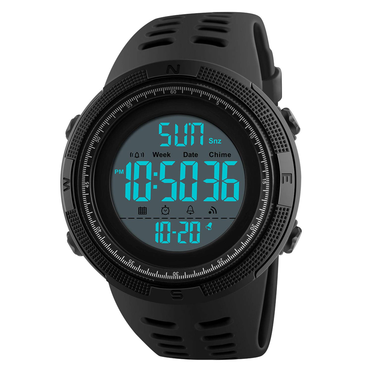 Wrist Watches Running Black Casual Digital Watch Electronic Calendar Waterproof With Fashion Sports Mens Alarm Stopwatch Military w8nNvym0O