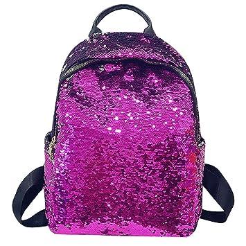 Fashion Women Girls Sequin Backpack - Saihui Stylish Shiny Glitter Bling  Rucksack Travel Shopping Bags for afe2f8d3ab2b