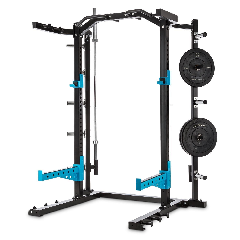 CAPITAL SPORTS Amazor H Jaula musculación profesional (Soportes de seguridad, ganchos en J, 2 barras dominadas, soporte barra pesas, altura regulable, ...