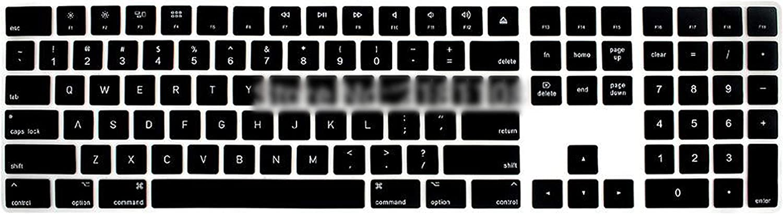 2017 Magic Keyboard with Numeric Keypad Mq052Ll//A A1843 Silicone Skin Keyboard Cover for Magic Keyboard,Aqua Blue