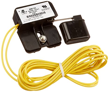Little Giant 599123 ACS-2 Auxiliary Condensate Drain Pan Overflow Shut-off  Switch, 48 VAC/VDC, 72-Inch Leads