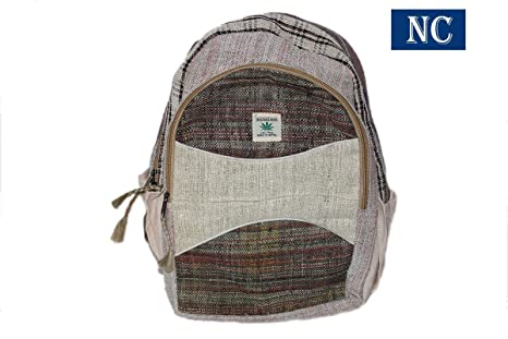 3dfdca7bfcc63 Himalayan 100% Hemp Backpack with Laptop Sleeve - Handmade In Nepal