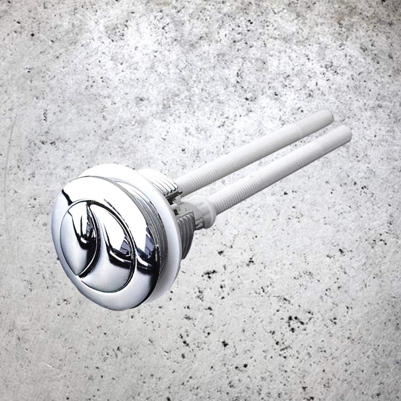 JK-2 38mm Dual Flush T/ête Ronde Bouton de R/éservoir De Toilette R/éservoir De Poussoir Boutons Galvanoplastie R/éservoir deau Valve Toilette WC