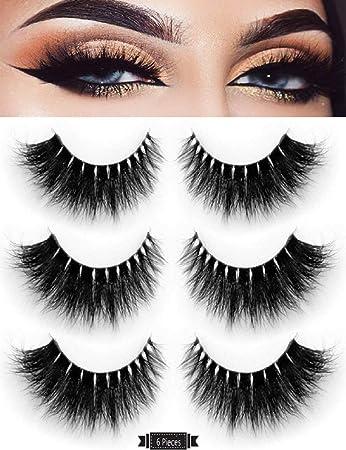 69d80495213 Amazon.com : 3D Fake Eyelashes-100% Hand-made False Eyelashes for Makeup  Dramatic Thick Crisscross Deluxe False Lashes Black Nature Fluffy Long Soft  ...