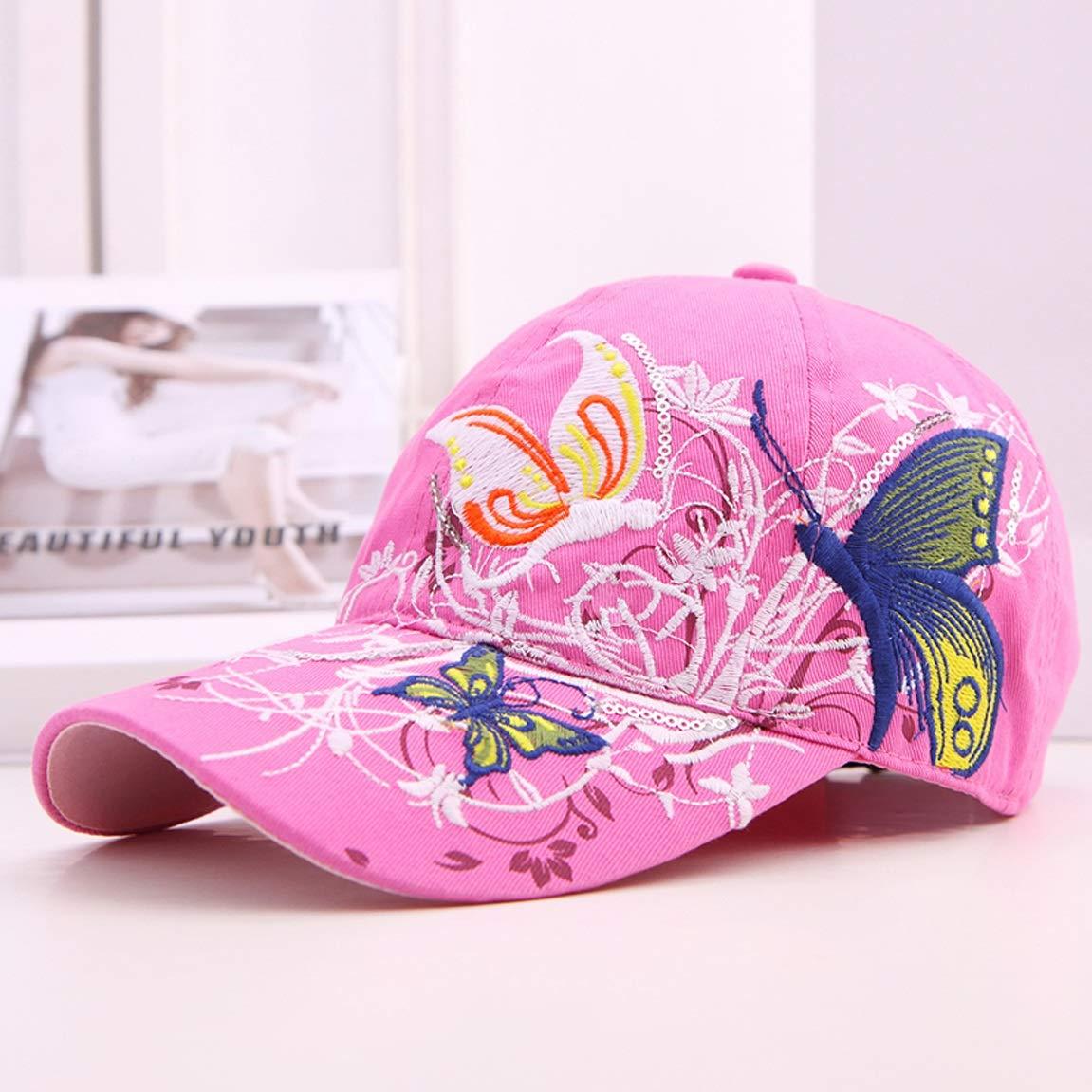HZB Gorras de béisbol Bordado de la Moda Protección Protección Protección Solar Deportes al Aire Libre Sun Hat (Color : Rose Rojo) ee0a89