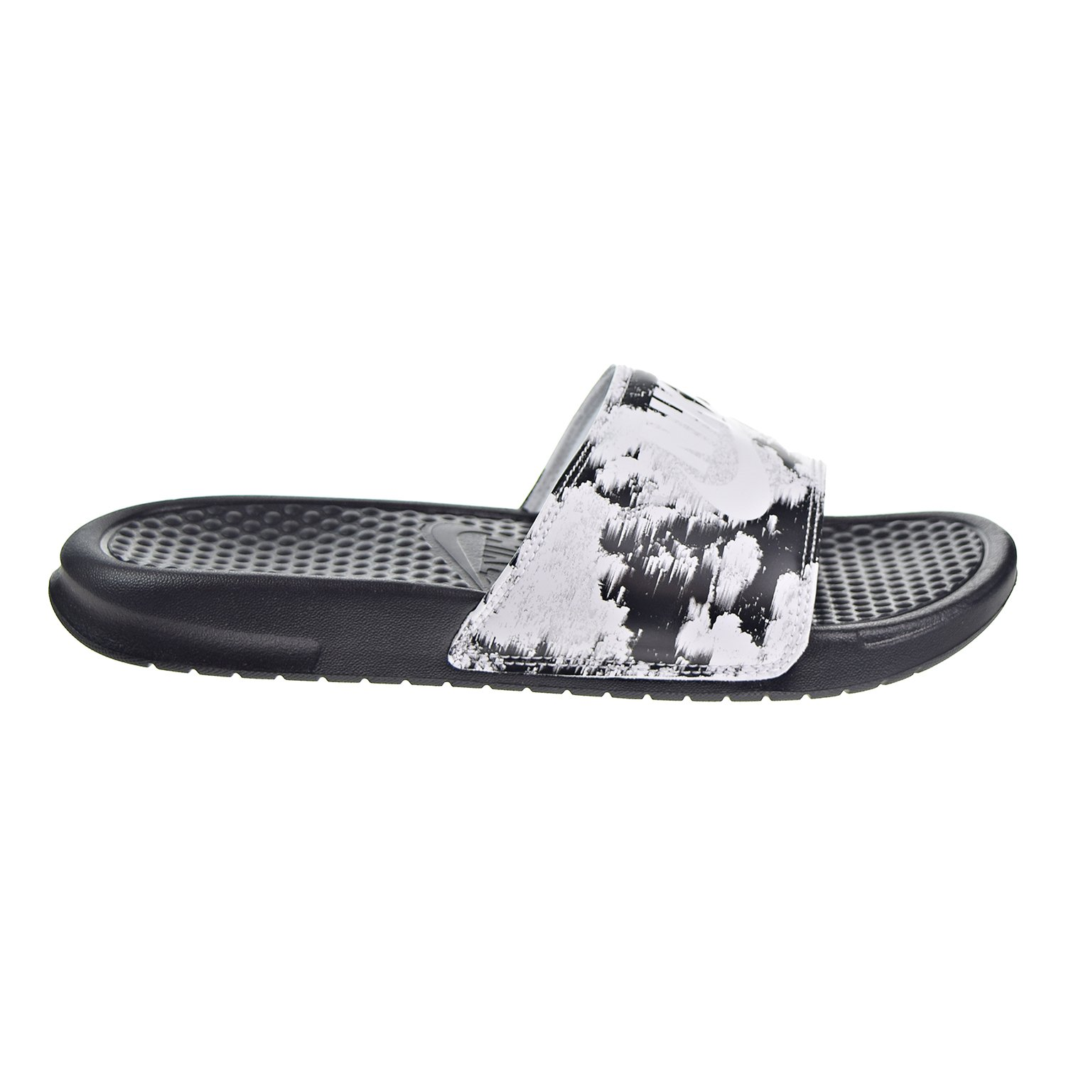 36c8c43030939 Amazon.com  Nike Womens Benassi JDI Print Slide Sandals Black White  618919-006 (9 M US)  Shoes