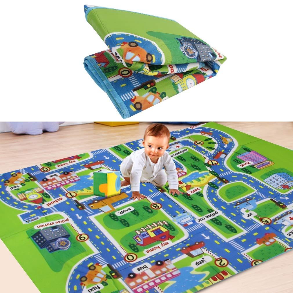 Multi-color Flexible y suave Higiénico y seguro para niños Jugar con juguetes Alfombra trepadora Niños en el desarrollo de alfombras Bebé En la alfombra de espuma, multicolor, 130 * 160 * 0.5 cm FairytaleMM