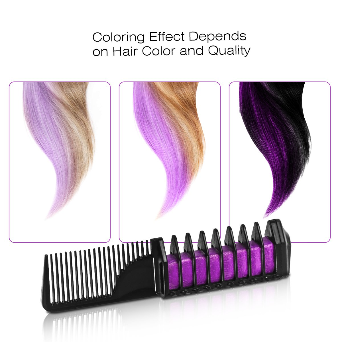 Hair Chalk Color Comb Temporary Hair Color Cream Hair Color Wax with Shawl for Party for All Hair Colors
