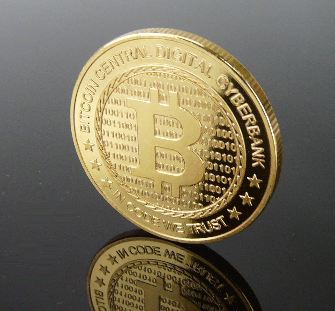 Da Uomo 10K Oro Giallo Medaglione Bitcoin Iniziale B Diamante Ciondolo 4 3/4CT