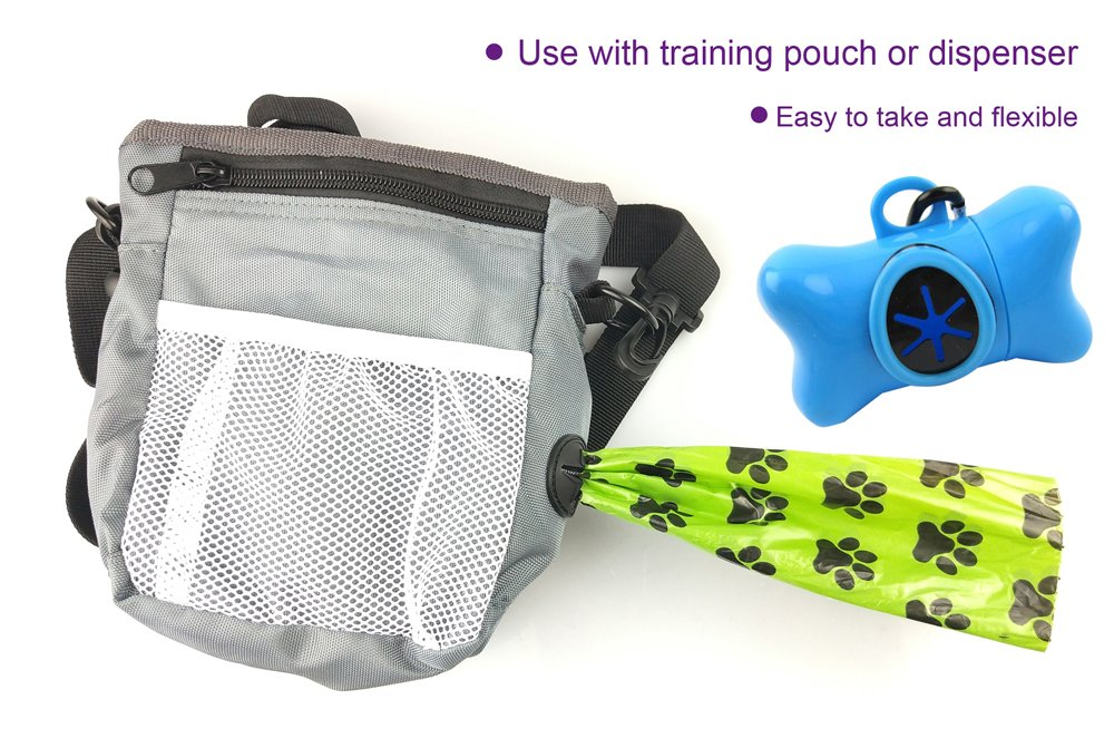Geesun 720-Count Thick Lavender Scented Dog Poop Bag, Leak-Proof Earth Friendly Pet Waste Bag, Easy Tear Off, Biodegradable Disposable Bags for Walking, Running or Hiking Accessory