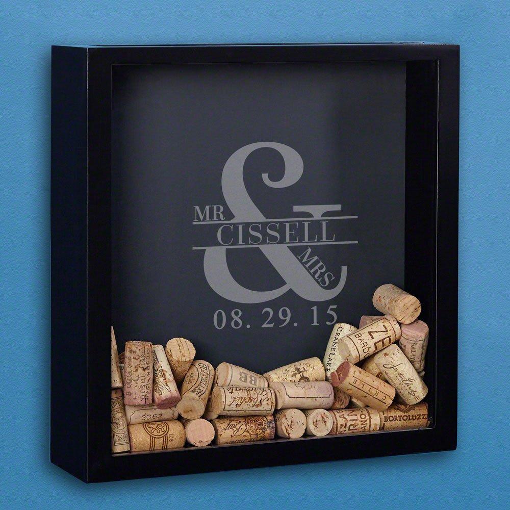 Love & Marriage Custom Wine Cork Shadow Box (Customizable Product)