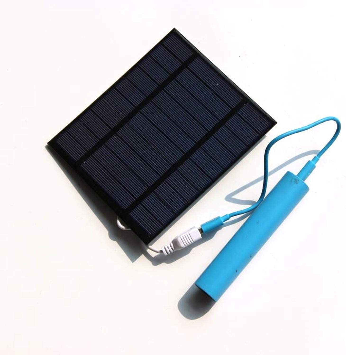 New 2.5W 5V Solar Powered Panel Iron Fan for Home Office Outdoor Traveling Fishing 4 Inch Cooling Ventilation Fan USB New,Black