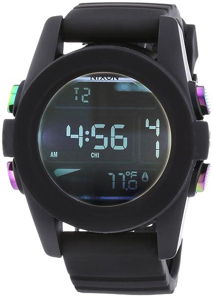 Nixon - Reloj Digital de Cuarzo para Hombre, correa de Plástico color Negro