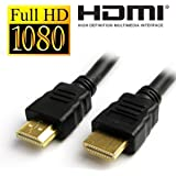 UNMCORE™ High Speed HDMI Male to HDMI Male HDMI Cable TV Lead 1.4V Ethernet 3D Full HD 1080p (2 Meter)