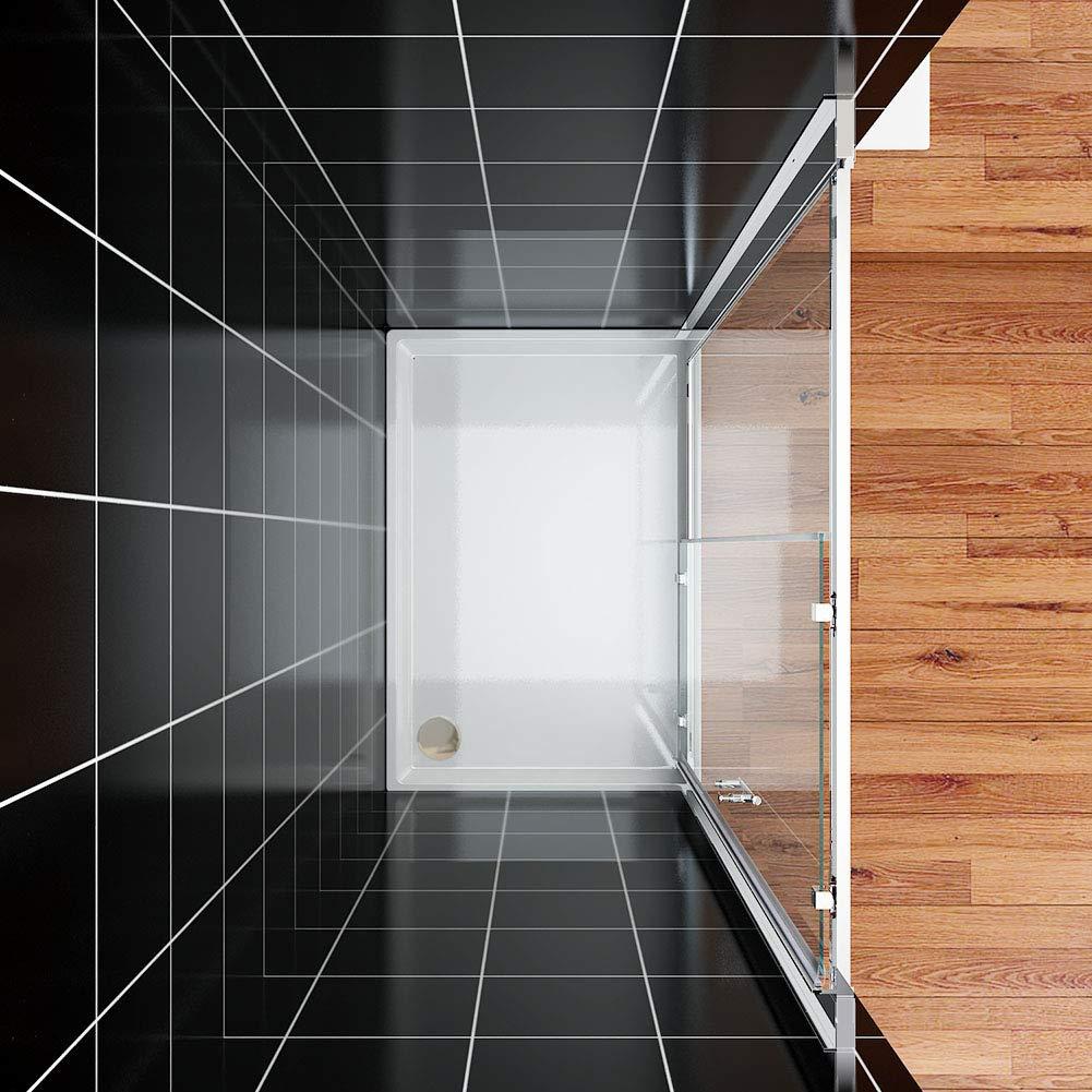 1100mm shower door Moderne Porte de cabine coulissante de salle de bain Cabine de douche avec panneau lat/éral