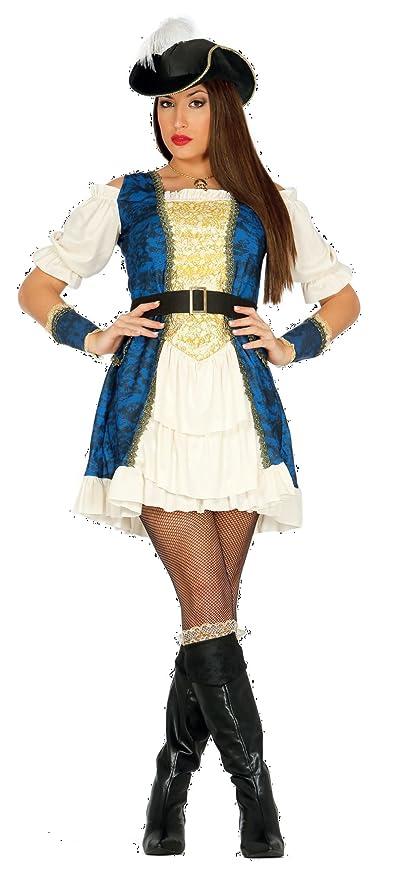 Guirca - Disfraz de Pirata Lujosa adulto talla M