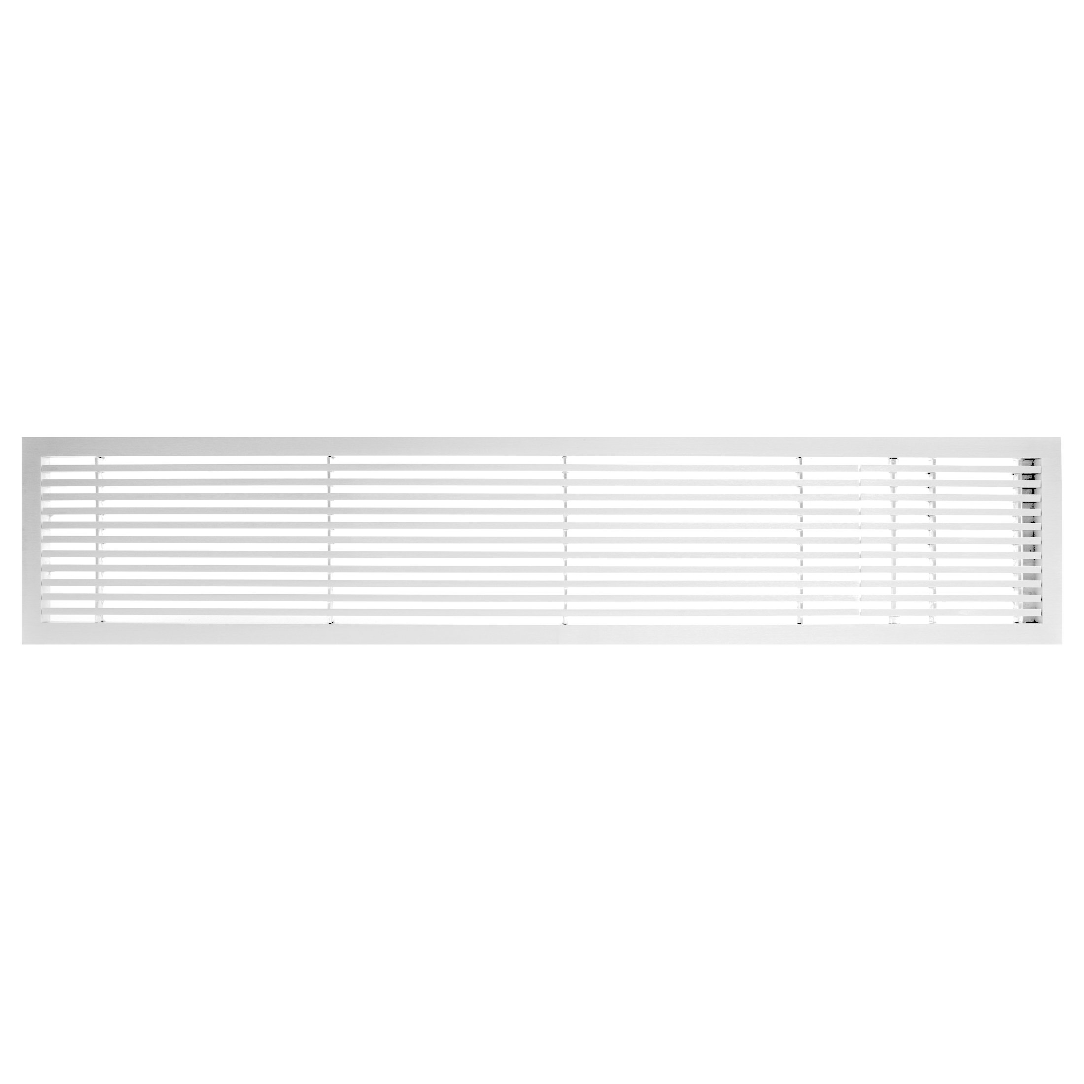 Architectural Grille 200044822 AG20 Series 4'' x 48'' Solid Aluminum Fixed Bar Supply/Return Air Vent Grille, White-Matte with Right Door