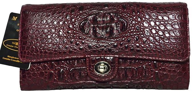 Amazon.com: Authentic M Piel de Cocodrilo Womens hornback ...