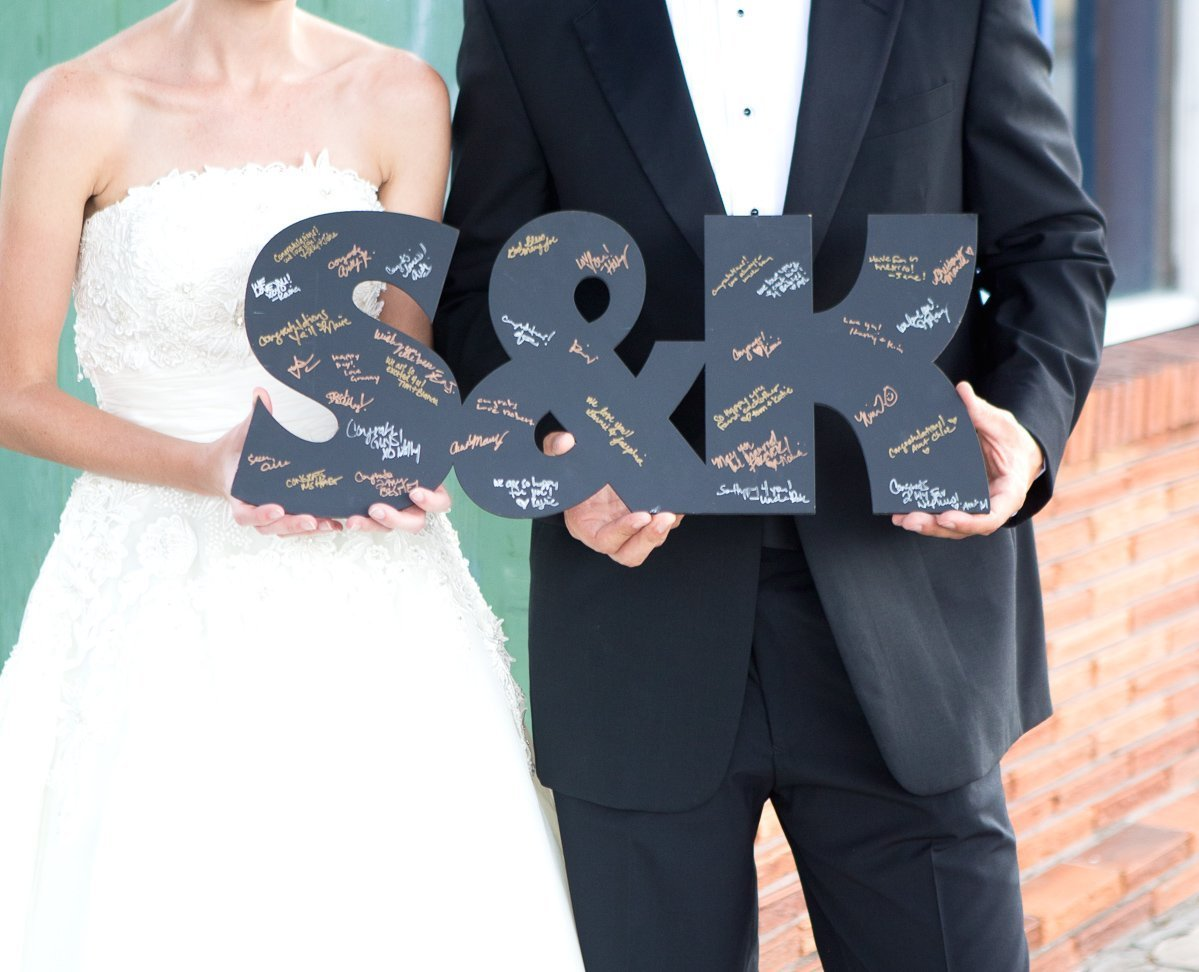 30 Large Wooden Letters for Guestbook Alternative Wooden Letters Wedding Guest Book Monogram Initials Sign