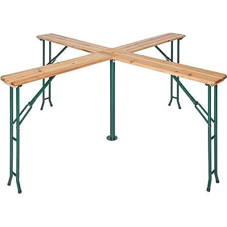 TecTake Conjunto de mesa y bancos de jardín y sillas de terraza muebles cervecería - varios modelos- (Tipo 2   no. 401825)
