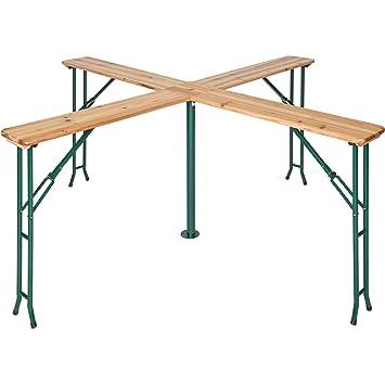 TecTake Conjunto de mesa y bancos de jardín y sillas de terraza muebles cervecería - varios modelos- (Tipo 2 | no. 401825)