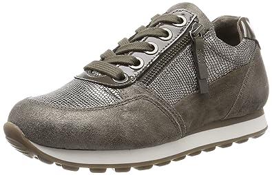 Gabor Shoes Damen Comfort Basic Derbys, Grau (13 Argento/Fango k.)