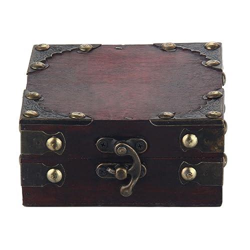 niceEshop(TM) Caso de Joyero, Caja de Madera de Estilo Vintage y único para Mujeres, Marrón: Amazon.es: Hogar