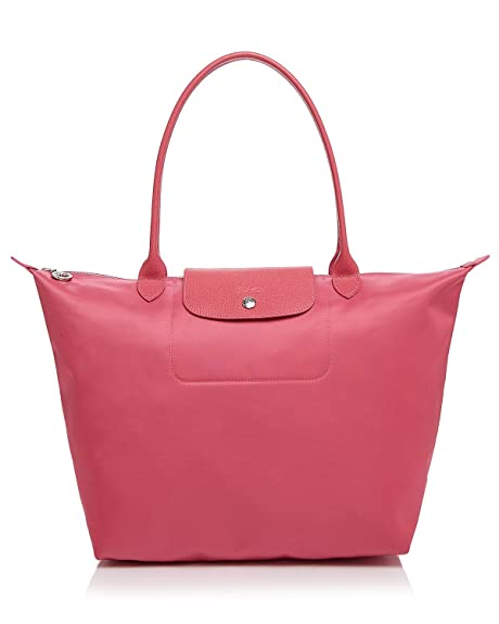 Longchamp Le Pliage Neo Large Shoulder Bag Tote Handbag (Rose Pink ... 9cebb5420964c
