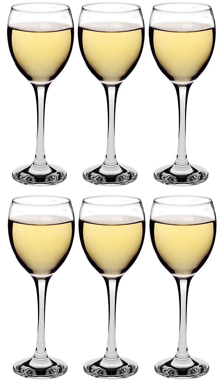 Argon Tableware White Wine Glasses - Gift Box of 6 Glasses - 245ml (8.6oz)