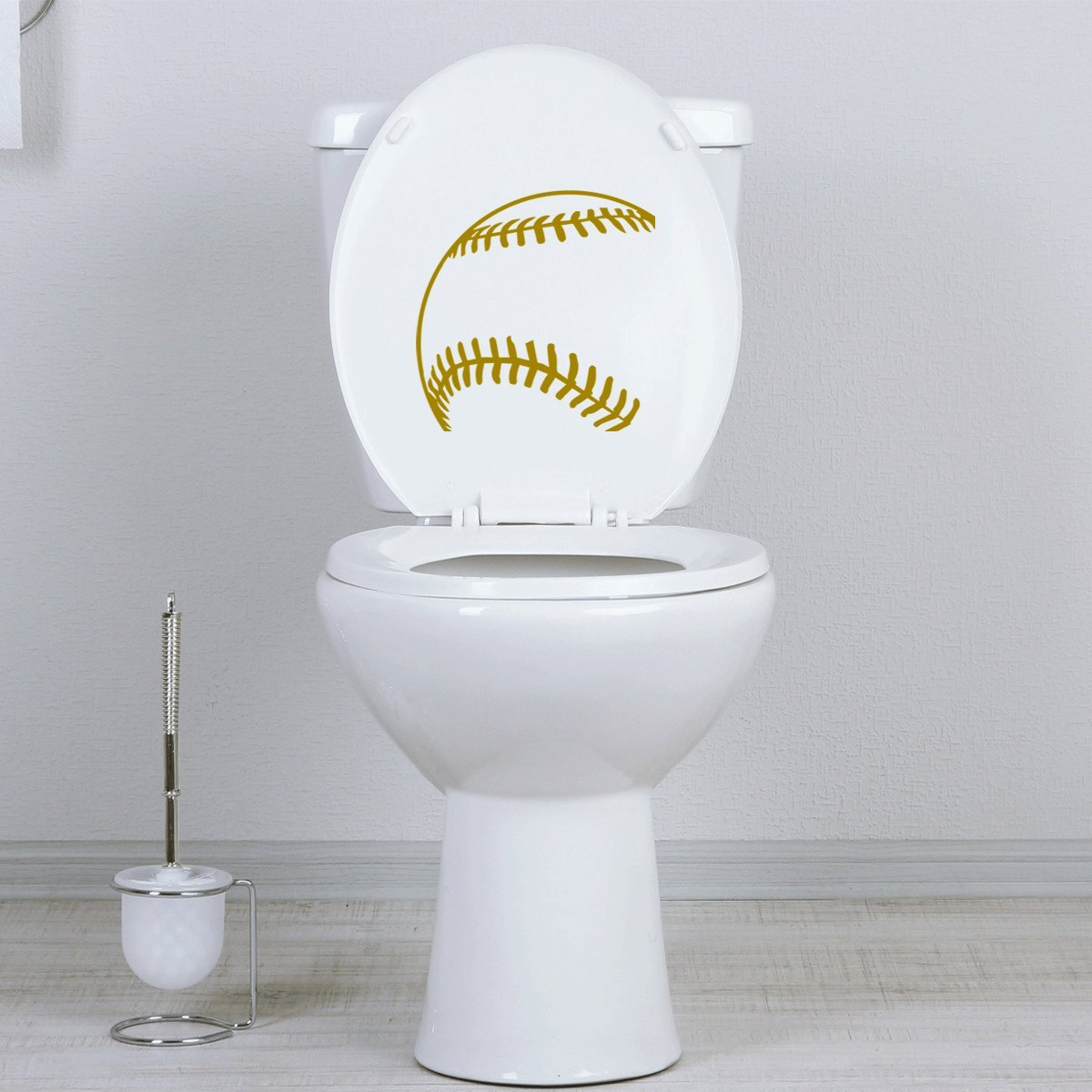 Awesome Stickany Bathroom Decal Series Baseball Corner Sticker For Toilet Bowl Bath Seat Black Beatyapartments Chair Design Images Beatyapartmentscom