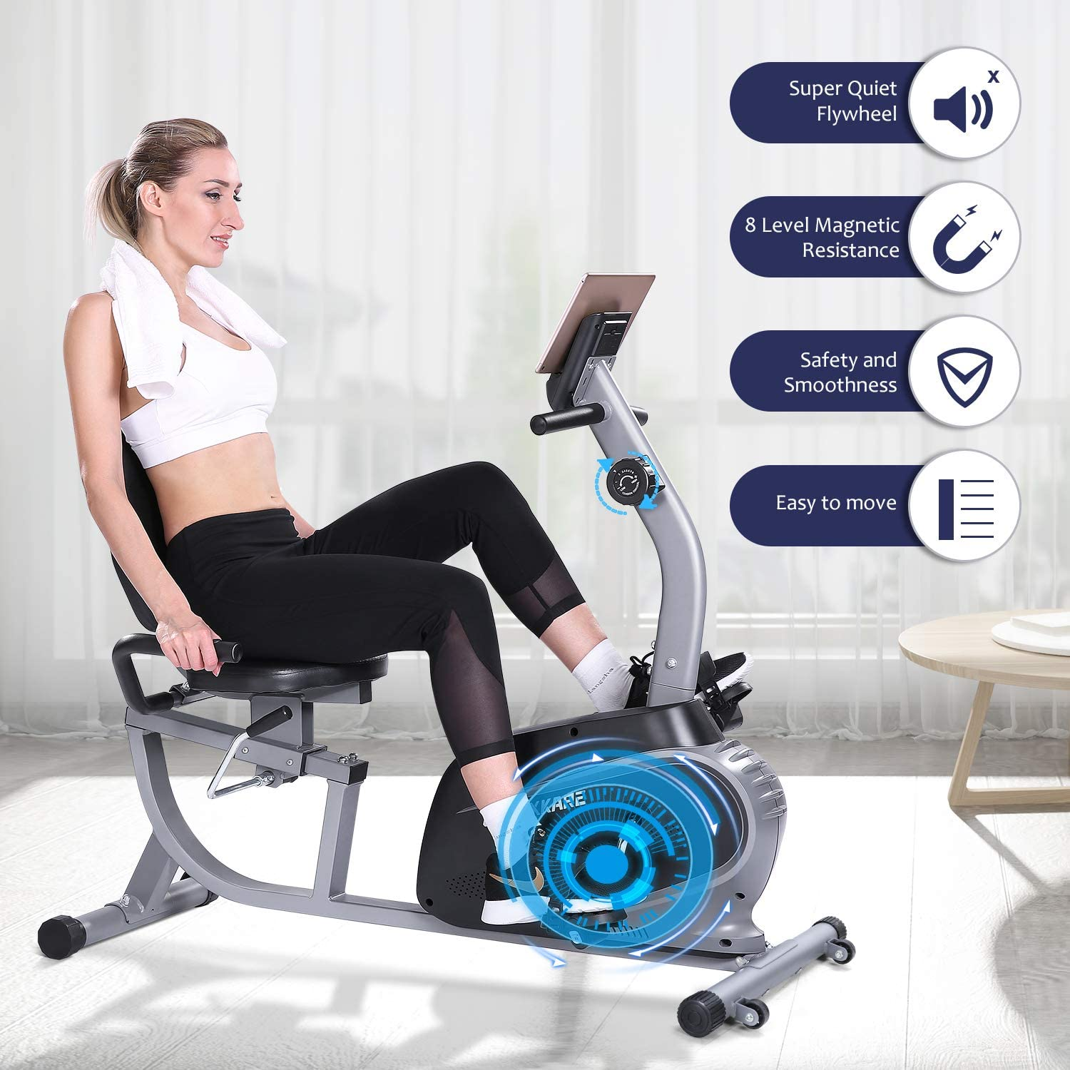 MaxKare Recumbent Bike Indoor Stationary Bike