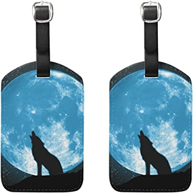 2 Pack Luggage Tags Wolf Travel Tags For Travel Tags Accessories